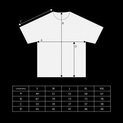 T-shirt PERCIVAL wymiary